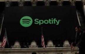 周二美股收盘,Spotify股价涨17.01美元,涨幅为12.89%